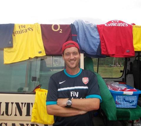 Donating Arsenal shirts